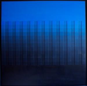 olio su tavola, 120x120 cm. 1980